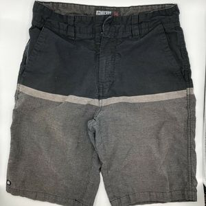 Micros Black Color Block Shorts Boy's Size 14
